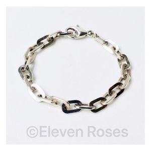 Tiffany & Co. Flat Oval Link Chain Bracelet